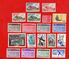 Lot De 19 Timbres ANDORRE PRINCIPAT D ' ANDORRA Neufs Xx - Stamps