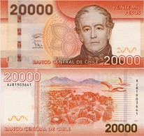 CHILE       20,000 Pesos       P-165[h]       2018       UNC  [ 20000 ] - Cile