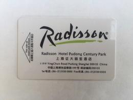 Radisson Hotel Shanghai - Hotel Keycards