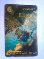 7CDME Diver And Black Bar Soldier Dish EC$20 - Dominique