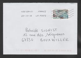"""FRANCE / 2018 / Y&T N° AA 1513 : """"Œuvres De La Nature"""" (Minerai De Fer Sur La Roche) - Sur Pli 2018 10 22 - Marcophilie (Lettres)"""