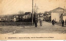 CHAMPIGNY  Avenue De Coeuilly, Route De Chennevières Et Rue De Sévigné. - Champigny Sur Marne
