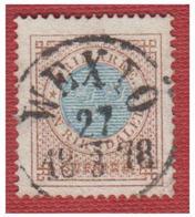 """SUEDE --SVERIGE -- FACIT N°27-- PERF 14 -- 1 RIKSDALER --  DE """"WEXTO"""" --27/3 1878 -- - Gebraucht"""