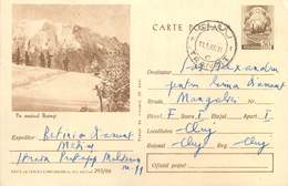 D1432 Postal Stationery Postcard Romania Pe Masivul Bucegi - Rumänien