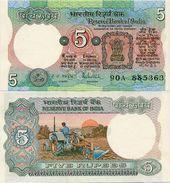 INDIA       5 Rupees       P-80p       ND (ca. 1985)       UNC  [staple Holes] - India