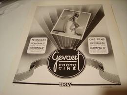 ANCIENNE PUBLICITE PHOTO CINE DE GEVAERT 1950 - Music & Instruments