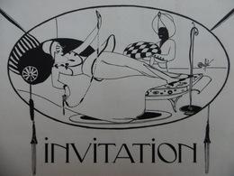 INVITATION EXPOSITION ILLUSTRE PAR MICHEL DUFET EDGAR BRANDT LECREUX MOREAU NELATON 1914 - Mitteilung