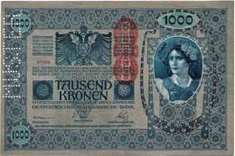 START 0.99e - MUSTER - Austro-Hungary 1000 Kronen 1902. Xf - Specimen - Mega Rare In This Form - Austria - Hungary - Autriche