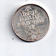 Pièce De 100 Francs De 1987 -voir état - - France