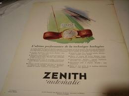 ANCIENNE PUBLICITE PRECISION MONTRE ZENITH 1950 - Jewels & Clocks