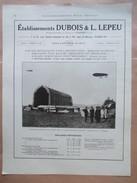 1922 - Hangar LEPEU Démontable Pour Dirigeable Militaire  à Voultegon En 1912 - Page Originale ARCHITECTURE Industrielle - Architecture