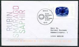 """Künstler First Day Cover Germany 2012 Mi.Nr.2903 Ersttagsbrief""""Edelsteine,Saphir-Wohlfahrt""""1 FDC - Mineralien"""