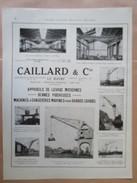 1922 - LE HAVRE  -  Ets CAILLARD   Grue Flottante   - Page Originale MACHINE Industrielle - - Machines