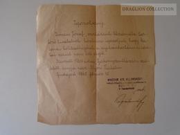 ZA108.25  Budapest 1945 02.16 - Kovács J. Bakonyszentlászló  Military Cetificate - Vieux Papiers
