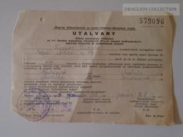 ZA108.26 MÁV Győr Sporon Ebenfurt Railway   Voucher - Budapest - Miskolc  1963 Miskolctiszai PU - Transportation Tickets