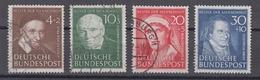 BRD 1951 - Mi.-Nr. 143-146 - Oblitérés