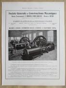 1922 - Page Originale ARCHITECTURE INDUSTRIELLE -  Machine à Vapeur - Mines D'Anderny Chevillon Tucquegnieux - Machines