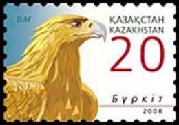 Kazakhstan 2008. Definitive Issue. Golden Eagle. Birds. Fauna. MNH ** - Kazajstán