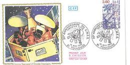 FDC XXème Anniversaire CNES Centre National Etudes Spatiales (Toulouse 15 05 1982) - FDC