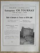 1922 - Page Originale ARCHITECTURE INDUSTRIELLE - Charbonnage Du Gosson à Montégnée Par CH TOURNAY (Liège) - Architecture