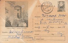 D1432 Postal Stationery Postcard Romania Targoviste Tower - Roemenië