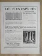 1922 - Page Originale ARCHITECTURE INDUSTRIELLE - LES PIEUX EXPLOSES   Le Havre - Travaux Publics