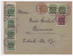 Dt- Reich (004833) Brief MIF Gelaufen Von Leizig Nach Grimma Am 4.10.1923 - Deutschland