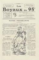 Rare Journal De Tranchées Les Boyaux Du 95 ème N°1 - 1914-18