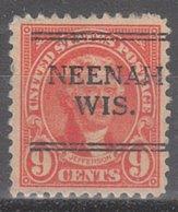 USA Precancel Vorausentwertung Preo, Locals Wisconsin, Neenah 641-241 - Etats-Unis