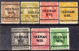 USA Precancel Vorausentwertung Preo, Locals Wisconsin, Neenah 241, 7 Diff., Perf. 11x10 1/2 - Vereinigte Staaten