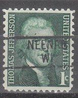 USA Precancel Vorausentwertung Preo, Locals Wisconsin, Neenah 839 - Vereinigte Staaten
