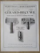 1922 - Page Originale ARCHITECTURE INDUSTRIELLE- Réserve à Eau Chaude Bains Douches  - GERARD BECUWE Soissons Et Signy - Machines