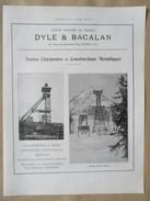1922 - Page Originale ARCHITECTURE INDUSTRIELLE- Chevalement De Mine - DYLE BACALAN - Architecture