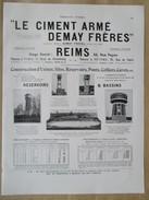 1922 - Page Originale ARCHITECTURE INDUSTRIELLE - Chateau D'eau Versailles,Vitry ,St Dizier Et Bassin à Beauval -DEMAY - Travaux Publics