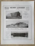 1922 - Page Originale ARCHITECTURE INDUSTRIELLE - Construction Hangar Militaire  Montebourg (Manche) Et Bourget  LOSSIER - Arquitectura