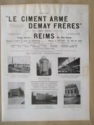 1922 - Page Originale ARCHITECTURE INDUSTRIELLE - Contruction Filature De Pont Faverger Et Minoterie à Braisne -DEMAY - Architecture