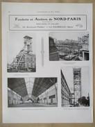 1922 - Page Originale ARCHITECTURE INDUSTRIELLE - Contructions Fosse Gayant Waziers Et Instit Sainy Cyr - Ets NORD PARIS - Architecture