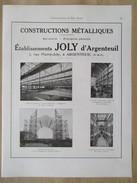 Année 1922 - Page Originale ARCHITECTURE INDUSTRIELLE - Hangar à Dirigeable D'Epinal Et Dietrich D'Argenteuil - Ets JOLY - Architecture