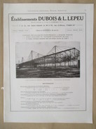 Année 1922 - Page Originale ARCHITECTURE INDUSTRIELLE - Construction Atelier Aviation Louis BREGUET Velizy Villacoublay - Architecture