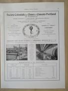 Année 1922 - Page Originale ARCHITECTURE INDUSTRIELLE - Sté Coloniale Des Chaux Et Ciments Portland Au Riaux L'Estaque - Travaux Publics