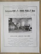 Année 1922 - Page Originale ARCHITECTURE INDUSTRIELLE #24 - Machine  Extraction Mines D'Aniche -Ets VENOT PESLIN Onnaing - Machines