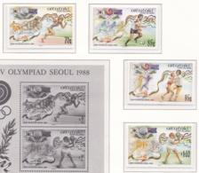Aitutaki 1988 Seoul Olympic Games Four Stamps MNH/** (M25) - Zomer 1988: Seoel