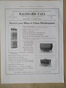 Année 1922 - Page Originale ARCHITECTURE INDUSTRIELLE #24 - INSTALLATION MINE Cage Et Wagonnet -MALISSARD TAZA à Anzin - Machines