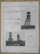 Année 1922 - Page Originale ARCHITECTURE INDUSTRIELLE  #15 -  Chevalet Réservoir Mine  De Lens Et D'Hensies Pommeroeul - Architecture