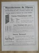 1922 - Page Originale ARCHITECTURE INDUSTRIELLE - Manufactures De Glace Cirey St  Gobain Jeumont Aniche Et Recquignies - Architecture
