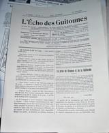 Rare Journal De Tranchées L écho Des Guitounes 15 Aout 1917 - 1914-18