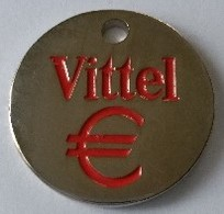 Jeton De Caddie - VITTEL - QUEZAC - En Métal - Neuf - - Trolley Token/Shopping Trolley Chip