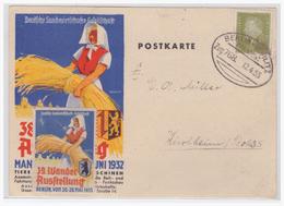 Dt- Reich (004874) Postkarte 38. Wander- Ausstellung überklebt Mit Vignette Von Der Wanderausstellung 1933, Gelaufen - Germany
