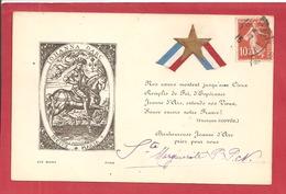 Y&T N°138 CP HOMMGE A JEANNE D'ARC      Vers  ST PAUL DE BLAYE 1915  2 SCANS - 1921-1960: Modern Period
