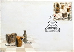 Belarus 2018 FDC Archaeology. Chess Pieces - Archeologie